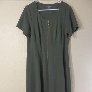Roz & Ali Woman Dress Short Sleeve Size 14